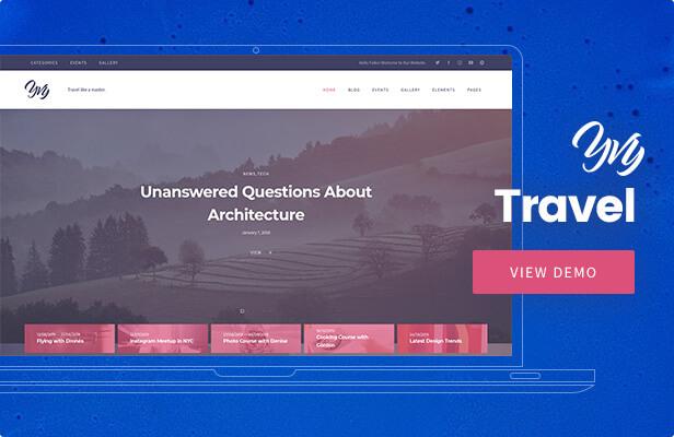 Yvy — Travel Blog/Magazine WordPress Theme