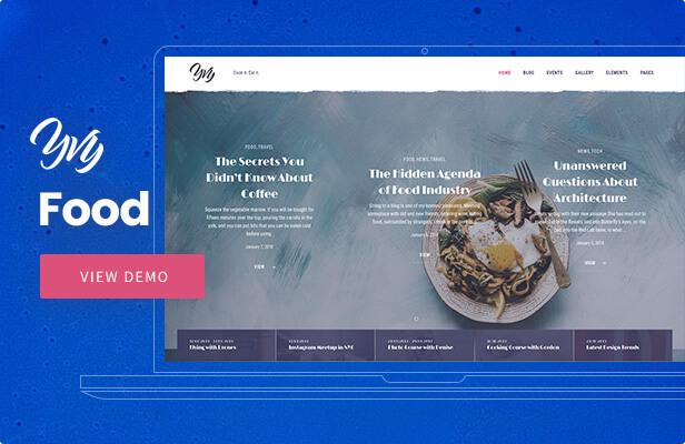 Yvy — Food Blog/Magazine WordPress Theme