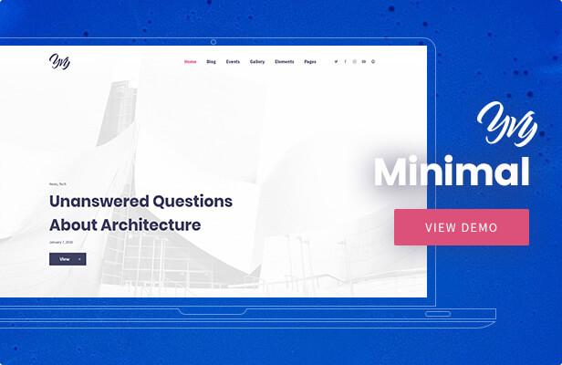 Yvy — Minimal Blog/Magazine WordPress Theme