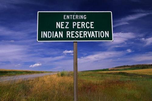Entering Nez Perce Reservation