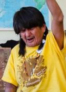 Merrill Sequi, Hopi, leading us in worship