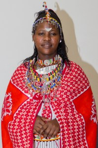 Traditional Maasai dress and jewelry