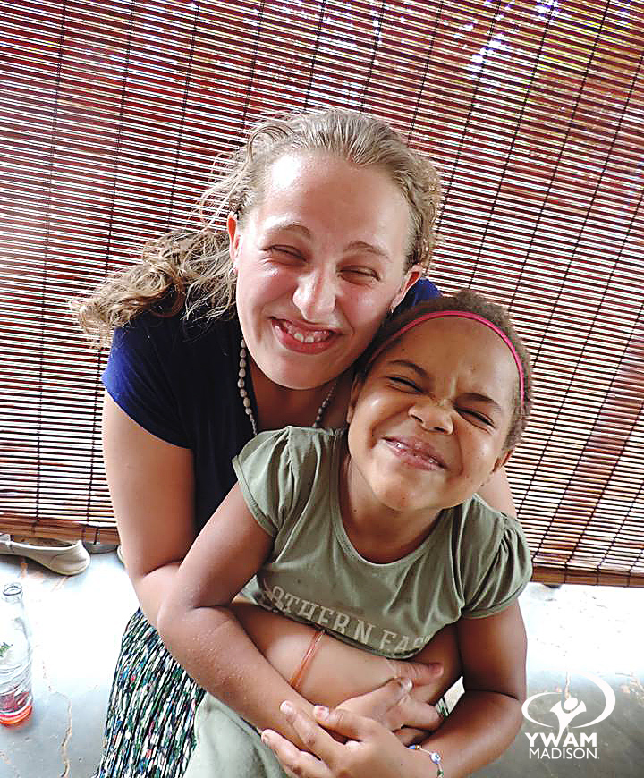 missionary with girl in Uganda
