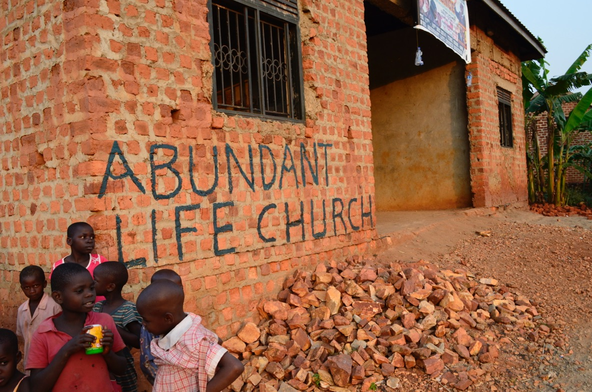 church in Uganda with kids
