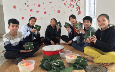 Making Traditional Chung Cakes in the Children's Home