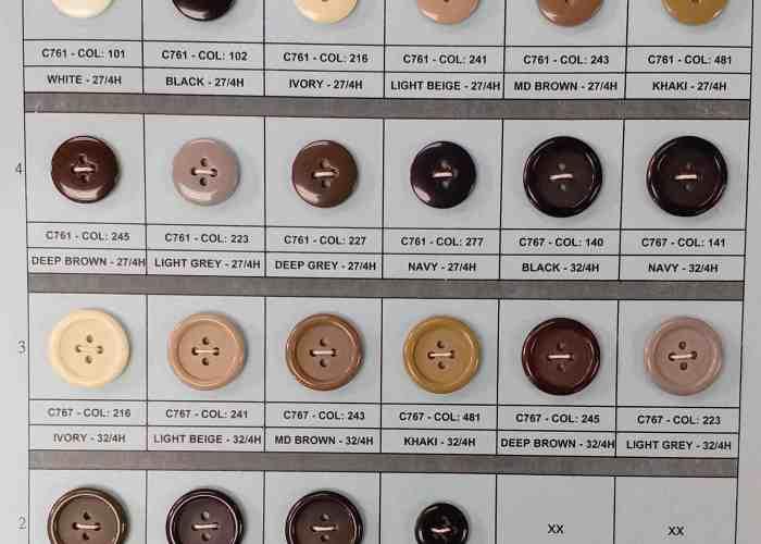 Solid color suit buttons & suspender Buttons