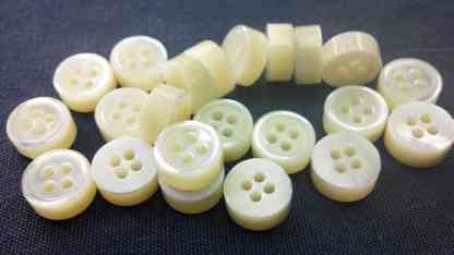 5mm Thickness Trocas Shell Buttons 18L