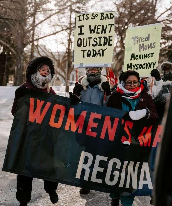Joan & Sharon represent YWCA Regina at Women's March 2020