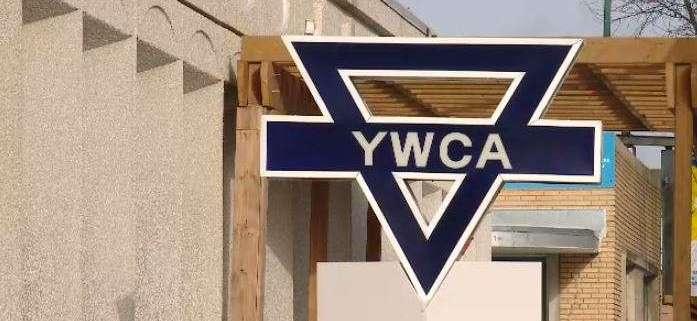 Front exterior of YWCA Regina with sign