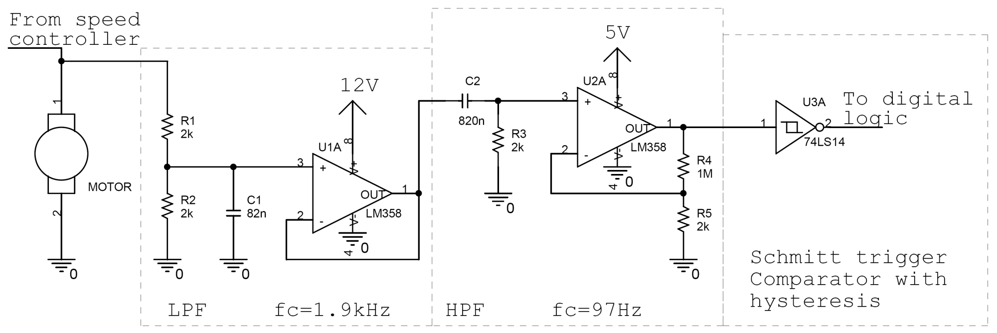 hight resolution of speed detector schematic