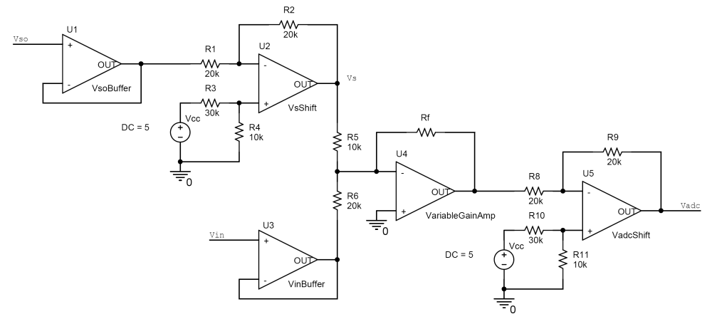 medium resolution of vertical shifter and amplifier circuit