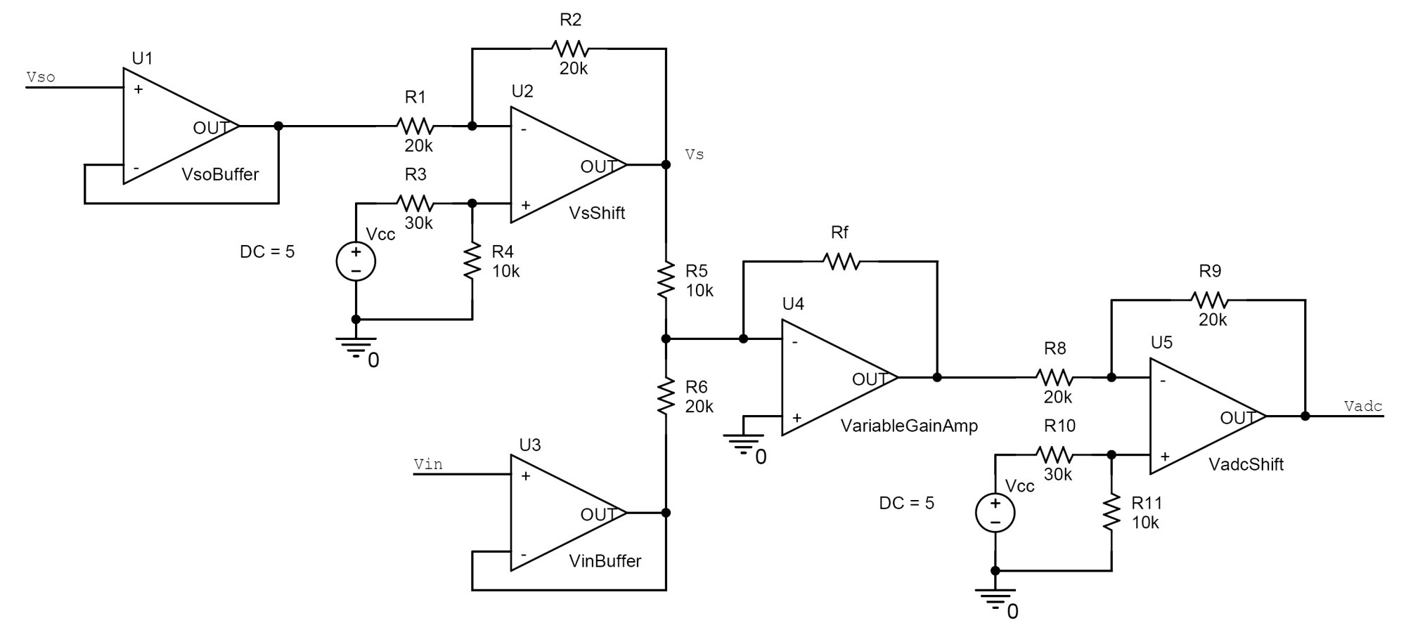 hight resolution of vertical shifter and amplifier circuit
