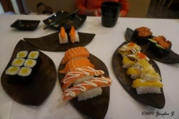 Eating sushi in China