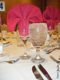 Glass at a Las Vegas banquet