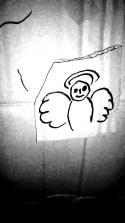 Un arcangelo, non tanto *magro* a dirla tutta, però *notturno*.