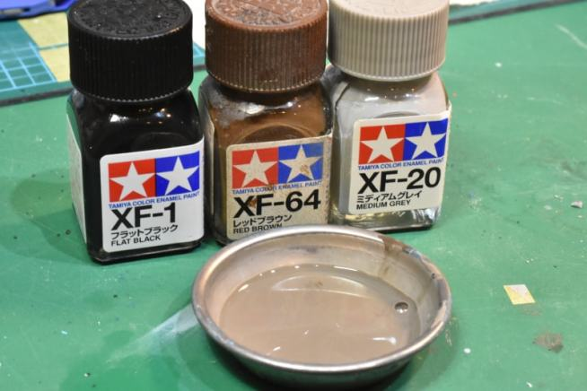 ガンプラ全塗装 スミ入れ エナメル塗料
