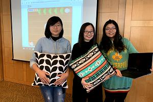 "YZU designs game "" Pillow Fight"" to win prize 元智研發枕頭拍拍樂 可跨世代共玩 獲三創設計優勝獎"