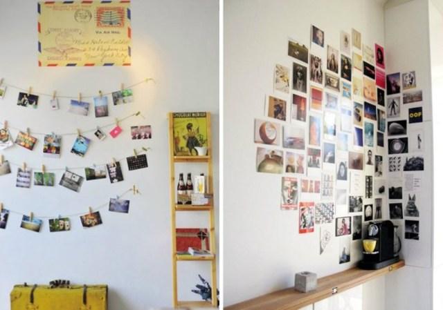 11 przechowywanie pamiątek kompozycja obrazki zdjęcia plakaty kartki pocztowe diy