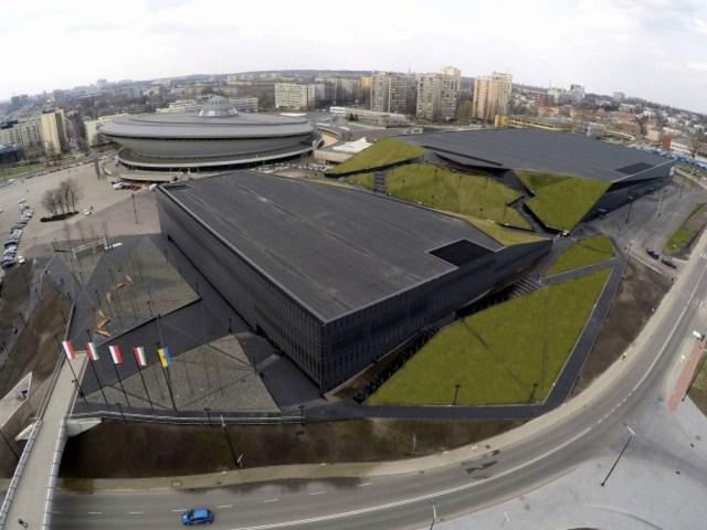12 MCK Katowice Międzynarodowe Centrum Kongresowe plac Sławika i Antalla 1 Katowice JEMS Architekci Spodek NOSPR nowoczesna architektura geometryczne formy