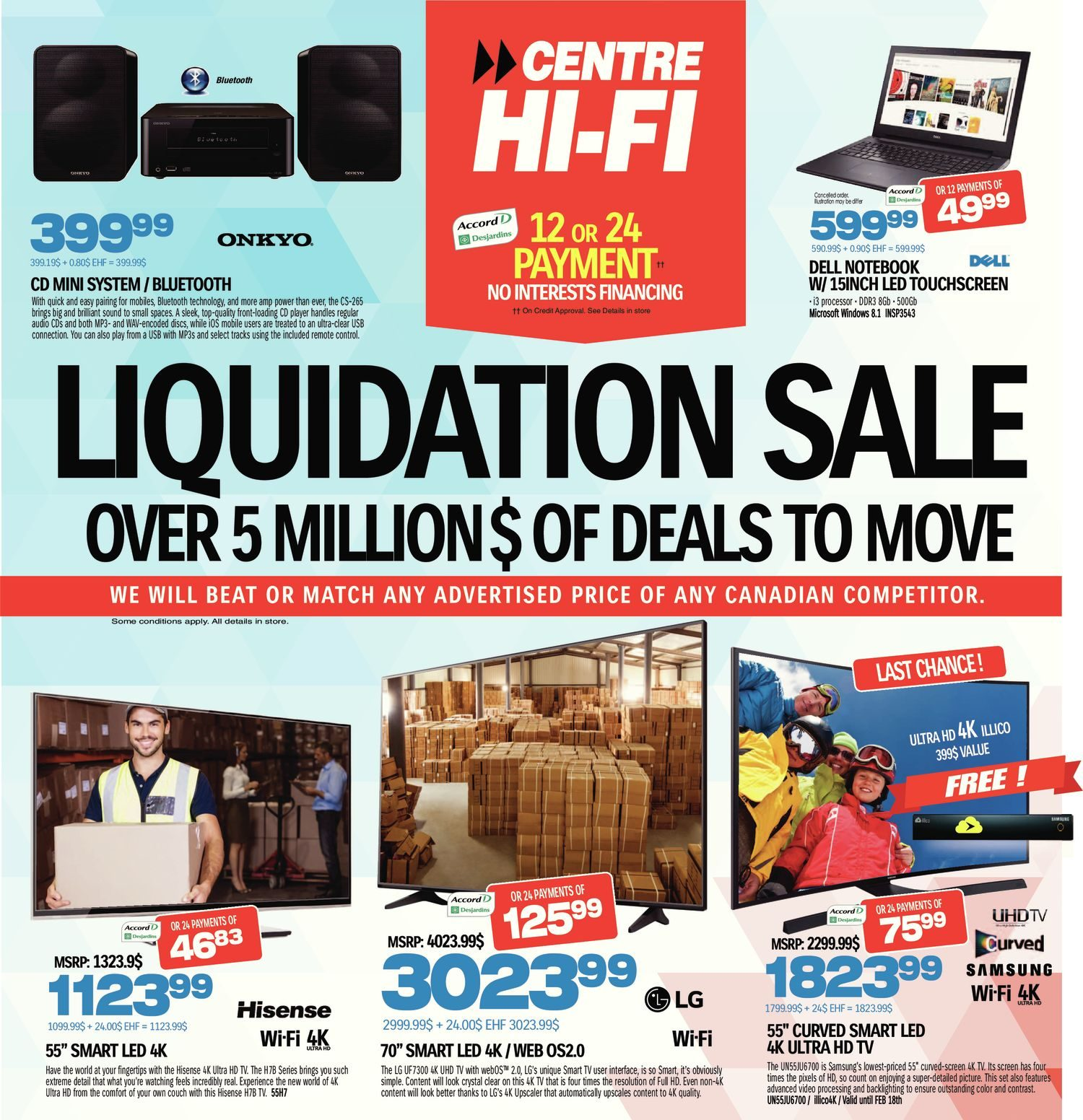 Liquidation World Flyer Centre Hifi Weekly Flyer Weekly Liquidation Sale Feb 18 24