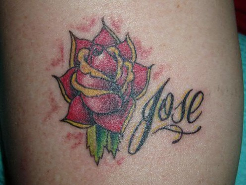 Many graffiti artists design their own tattoos and will get their real name,