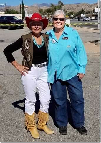 Grubstake Days 2017 Chamber President Wanda Stadum with Assistant Teddy Tapscott