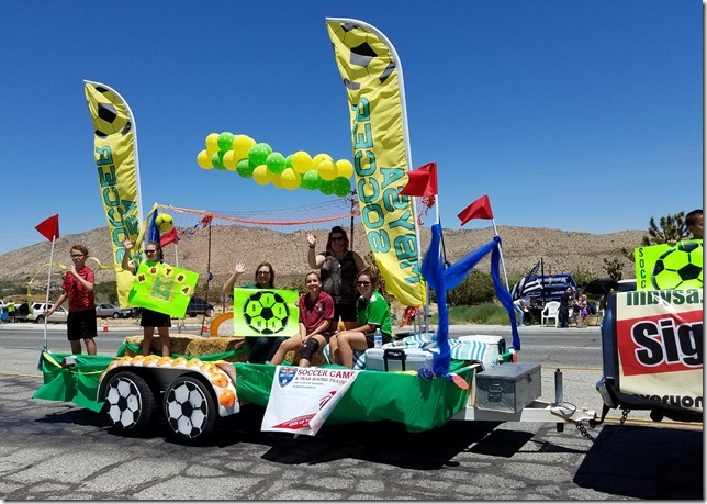 05.27.17 - Grubstake Days Parade - Morongo Basin Youth Soccer