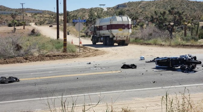 Yucca Valley Breaking News >> Motorcycle Rider Critically Injured In Crash With Trash