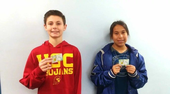 TWO LA CONTENTA MIDDLE SCHOOL STUDENTS HONORED FOR PERFECT ATTENDANCE