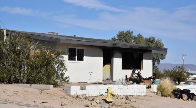INVESTIGATORS SAY TWENTYNINE PALMS FIRE SUNDAY WAS ARSON