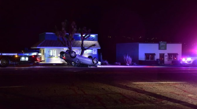 ROLLOVER CRASH IN YUCCA VALLEY MONDAY MORNING
