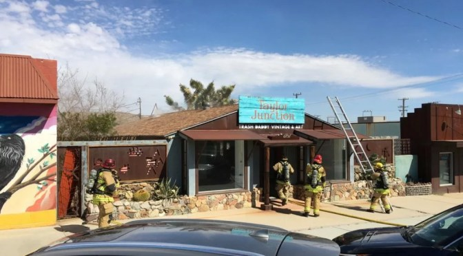 ROOF FIRE AT A JOSHUA TREE ART GALLERY