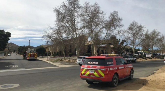 RESIDENTS EVACUATED DURING SMALL FIRE AT ASSISTED LIVING CENTER IN YUCCA VALLEY MONDAY