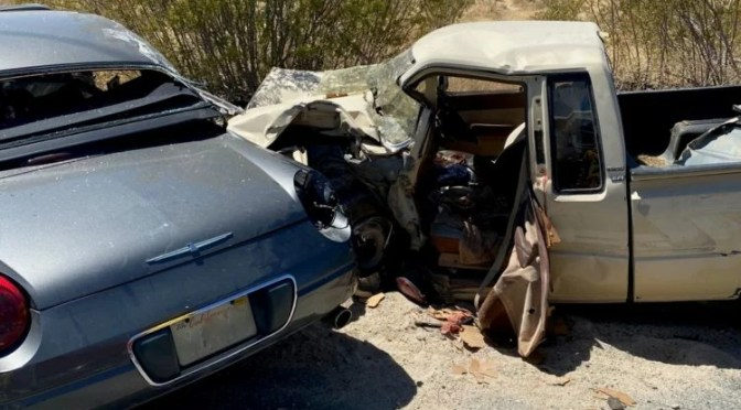 SECOND DRIVER DIES AFTER CRASH IN JOSHUA TREE WEDNESDAY
