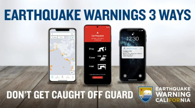 STATE LAUNCES NEW EARTHQUAKE PREPAREDNESS CAMPAIGN