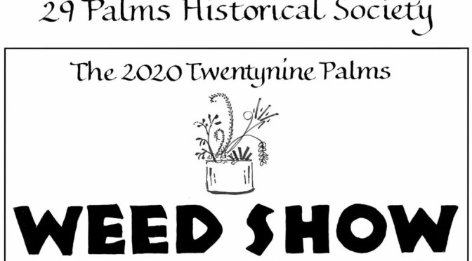 DELIGHTFULLY QUIRKY TWENTYNINE PALMS WEED SHOW THIS WEEKEND