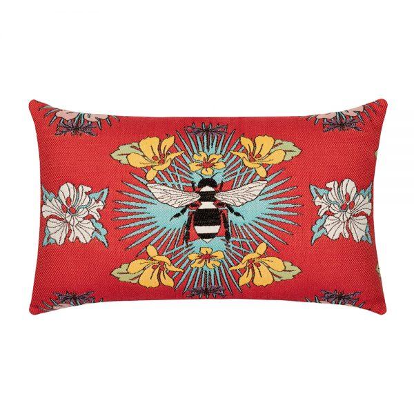designer lumbar pillow tropical bee