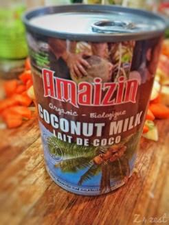 organic, preservative free coconut milk