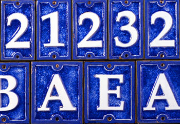 ecco ceramic and glass tiles 4 1 4 inch house numbers