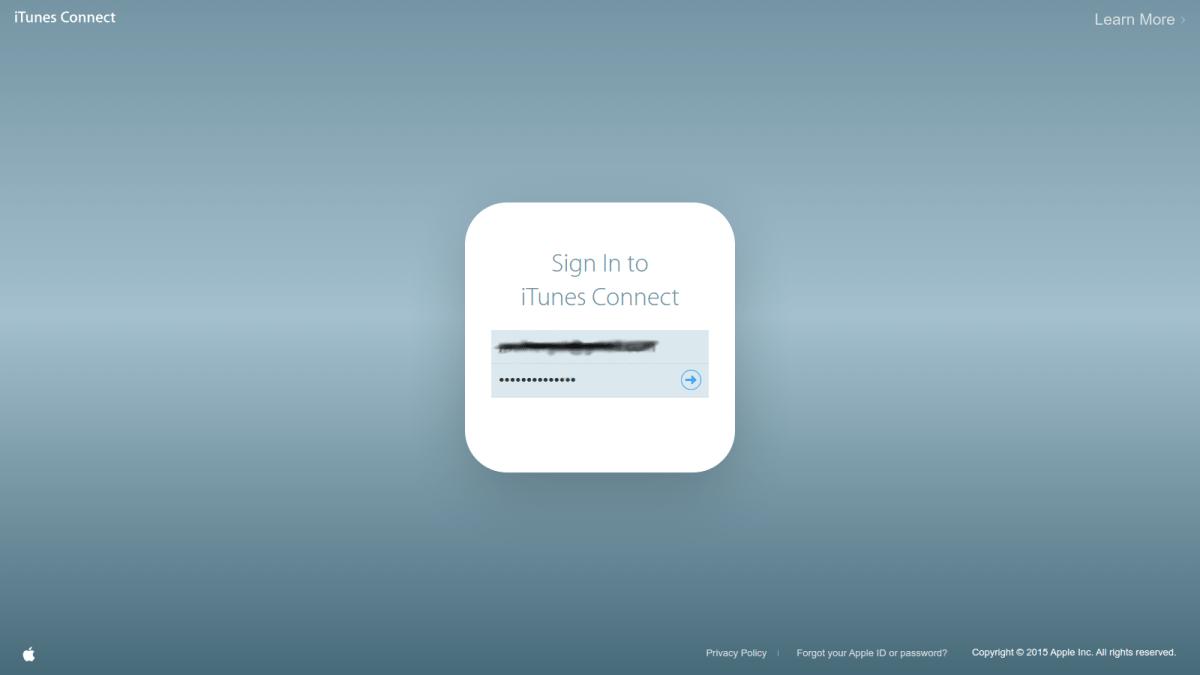 01 iTunes Connect - Login