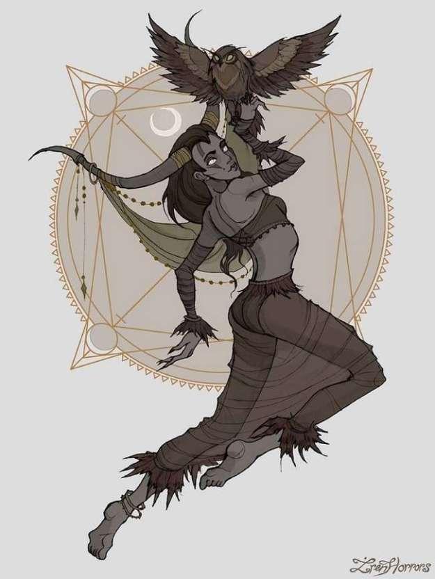 Как бы выглядели знаки зодиака, будь они темными ведьмами (12 фото)