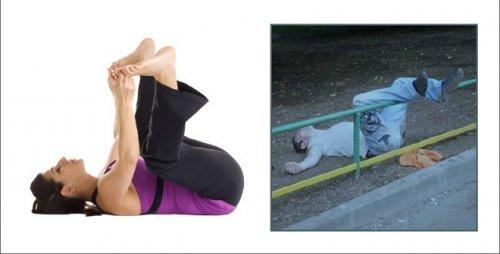 Пятничная йога: самые популярные асаны (10 фото)