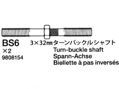 Tamiya 9808154 DB-01 Drążki regulacyjne 3x32mm