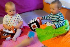 Woreczki sensoryczne Lundi dla niemowląt