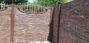 еврозабор харьков карпатский камень с ажурной аркой на участке