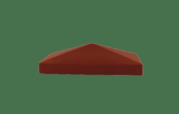 Крышка столба красная