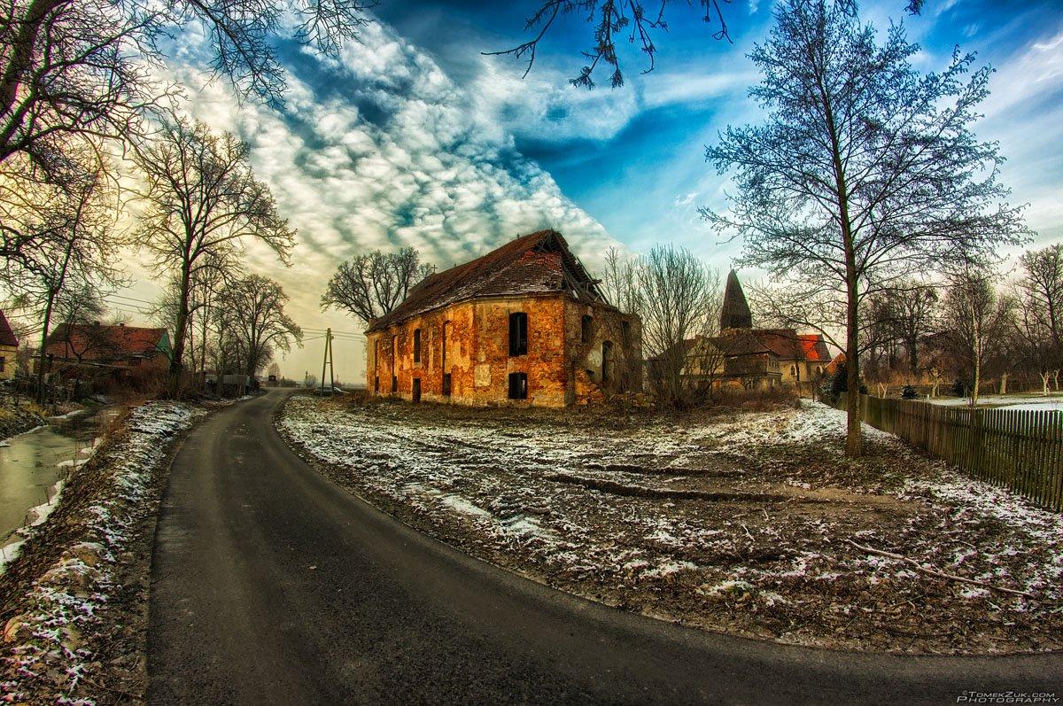 Ruina zboru ewangelickiego w Przecławiu