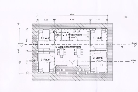 Hausentwurf Beispiel 1
