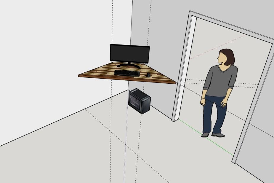 Corner Desk Sketchup