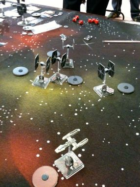 TIe fighters chasing my last Y-Wing
